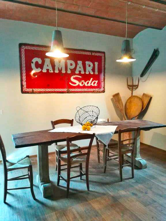 Restored vintage table and signboard