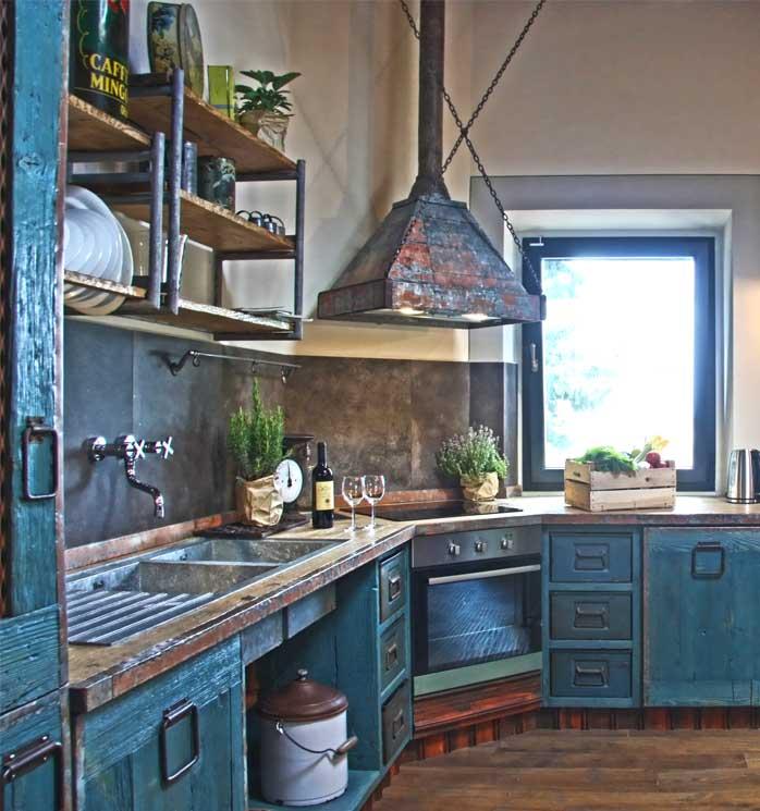 Progettazione cucina personalizzata industrial design