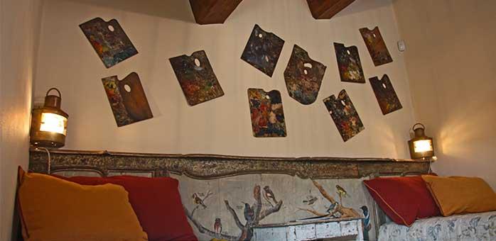 Tavolozze da pittura come arredo esclusivo per pareti interne