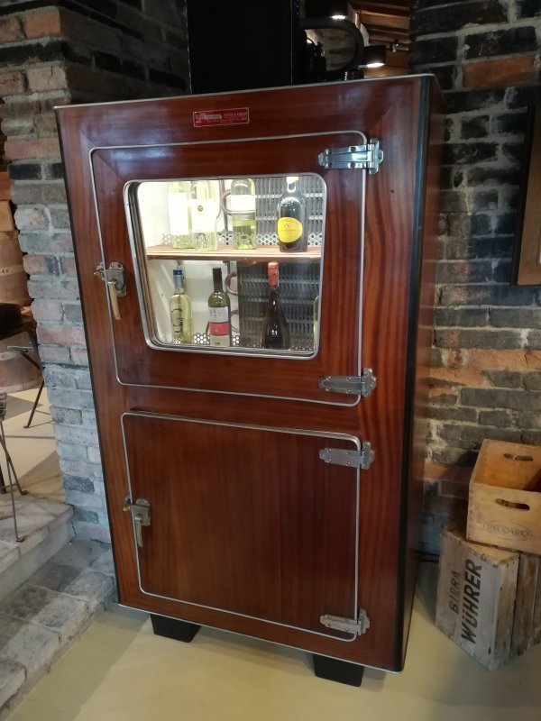 Mahogany 40s fridge icebox